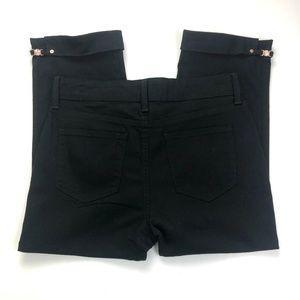 NYDJ Crop Capri Jeans Black Size 4